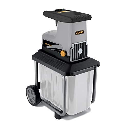 Alpina Biotrituratrice elettrica ASH 2.5 E, Silenzioso motore Elettrico da 2500 W, per triturare rami fino a 40 mm di diametro e rifiuti del giardino, Contenitore in plastica da 60 l