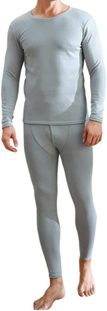 Thermal Underwear Set for Men Ultra-Soft Base Layer Fleece Lined Top and Bottom Long John