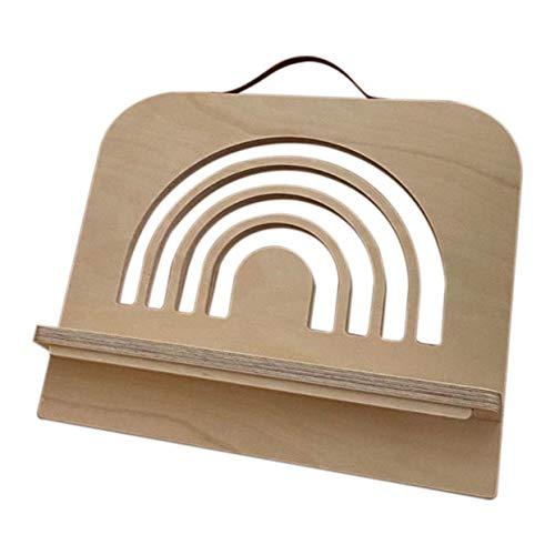 Uniquk Soporte para Libros de Madera Ligero, Resistente, PortáTil y Plegable - Soportes para Libros de Madera - Soportes para Libros de MúSica - para Soporte de Tableta