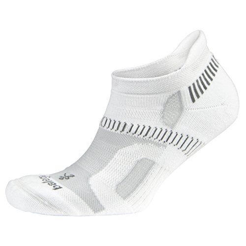 Balega Hidden Contour Socks For Men and Women (1 Pair), White, Medium