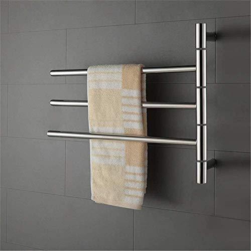 Toallero eléctrico Railleñas de toallas con calefacción Toalla Calentador, Toalla eléctrica Toaller, Calentador de toallas Montado en la pared 304 Acero inoxidable Acero inoxidable Ahorro de energía R