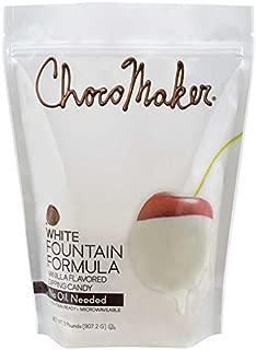 White Vanilla Flavored Fondue Dipping Chocolate Fountain Formula, 2 lb Bag