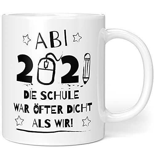 Taza de Abitur 2021 – Abi 2021 regalo – Regalo de graduación Escuela fue más densa que nosotros Lockdown (Abi – Schulschdicht)