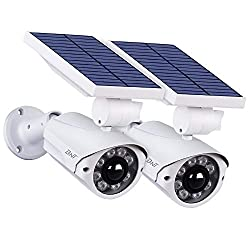 BNT Solar Powered Motion Security Light Outdoor (2 Pack), Solar Powered Security Lights, Motion Sensing Security Lights, Home Security Lights, Home Security