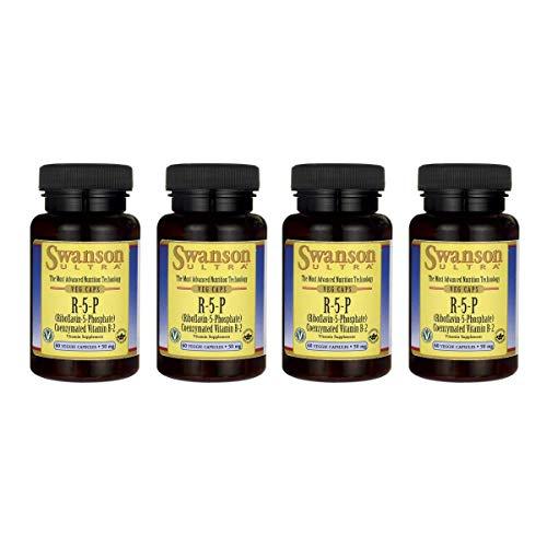 Swanson R-5-P (Riboflavin-5-Phosphate) 50 mg 60 Veg Caps 4 Pack