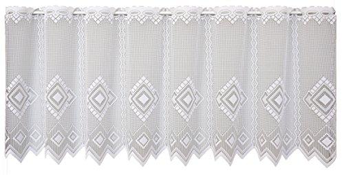 Anna Cortina Libby Gardine, Stoff, weiß, 50 x 100 cm
