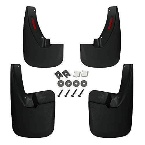 D-Lumina Mud Flaps Compatible with 2009-2018 Dodge Ram 1500, 2019 Dodge Ram 1500 Classic, 2010-2018 Dodge Ram 2500/3500 - with OEM Fender Flares Only, Heavy Duty Front and Rear Splash Guards