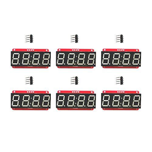 4桁LEDセグメント表示器 LEDディスプレイモジュール HT16K33 I2C Arduino用