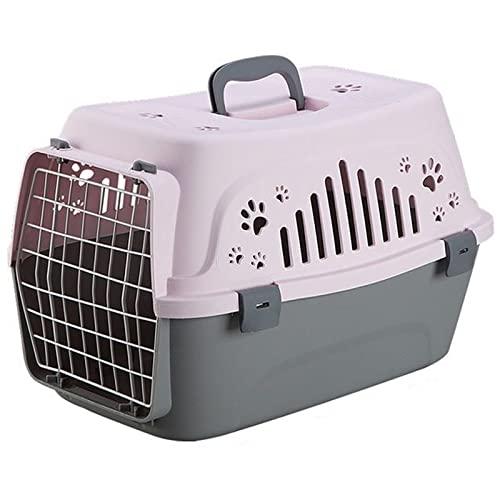 Transportín Rígido Para Perros De Talla Pequeña Y Gatos, Caja De Transporte Para Animales, Rejillas De Ventilación, Transporte De Plástico Para Tu Mascota - Perros Adultos, Cachorros, Gatos Y Otros