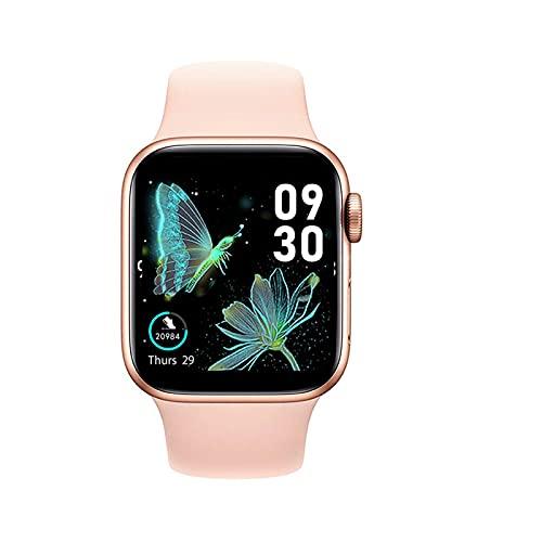 Ownlife Nuevo HW22 SmartWatch Hombres Mujeres 1,75 Pulgadas Pantalla HD Bluetooth Call DIY Watchfaces Smart Watch Sports Fitness Reloj para Android iOS (Color : Pink)