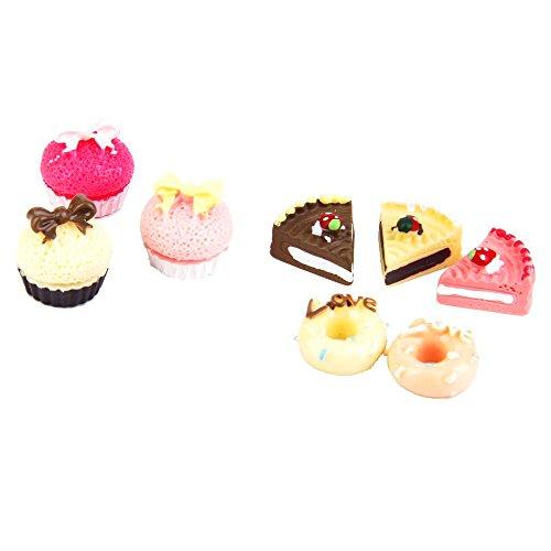 Newin Star Mini Kuchen, 8 Stück Miniatur Puppenhaus Lebensmittel Kinder Spielzeug