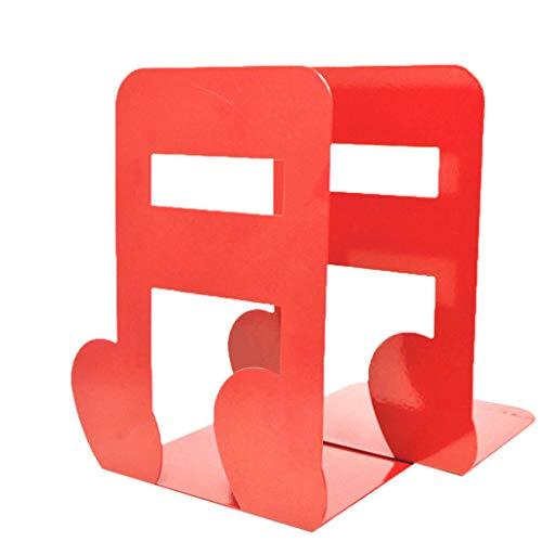DEtrade Double Book Baffle Metall rutschfest einfache Tischständer Rack Lesezeichen Doppelbuch Schallwand Metall rutschfest Einfach Desktop Halterung (Red)