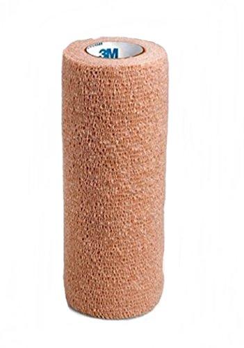 "1586 Bandage Coban Compression/Wrap Latex Elastic 6""x5yd Tan 10/Ca by 3M Medical Products"