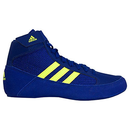 adidas Kids' HVC Wrestling Shoe, Ink/Solar Yellow/Ink, 11K