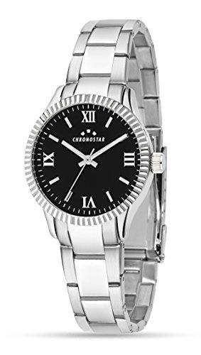 Chronostar Watches Orologio Analogico Quarzo da Donna con Cinturino in Acciaio Inox R3753241515