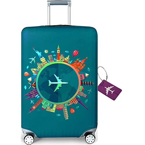 AOAKY Travel Luggage Cover Suitcase Protector Travel Bag Cover Luggage Cover 22-32 Inch Luggage Travel Suitcase Protector Washable Luggage Trolley Case (Send a Luggage tag for Free)