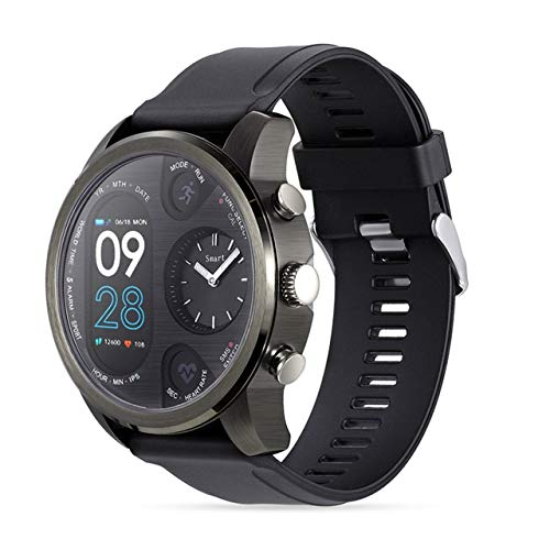 HWJ T3 Dual Mostrar Reloj Inteligente para Hombres IP68 Pulsera De Fitness Impermeable 15 Días Standby Business SmartWatch Activity Tracker (Negro) Sunshine20 (Color : Gray)