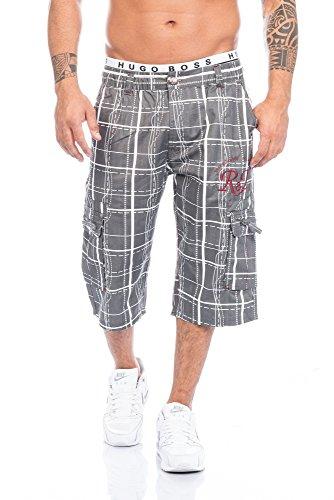 Raff&Taff Herren Bermuda in schönen Karo Farben .Schwarz,Weiß und in Antrhrazit bis XXXL (XL, Anthrazit)