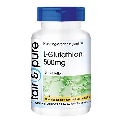 L-glutatión 500 mg - reducido - vegano - 120 comprimidos de L-glutatión