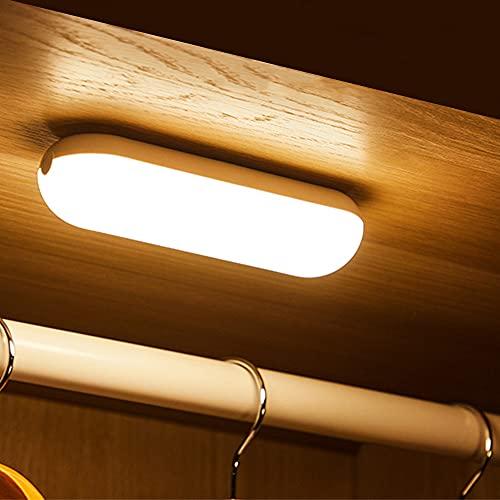 KSIBNW Táctil Regulable Led Armario Lámpara,3.2W Luces LED Luz Nocturna USB Recargable de 1200 mAh, Magnet Stick-on Iluminación de Lectura para Escaleras,Armario,Pasillo,Cocina