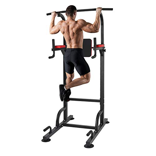 KAC Power Tower, Adjustable Height Dip Station & Pull Up Bar for Home Gym Strength Training Workout Equipment