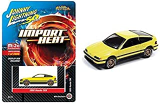 1990 CRX Yellow Street Freaks Johnny Lightning 50th Anniversary Limited Edition to 2400 Pieces 1/64 Diecast Model Car by Johnny Lightning JLCP7201