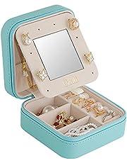 Uzoli Portagioie da viaggio piccolo regalo per donna ragazza porta orecchini anelli gioielli scatole portagioielli