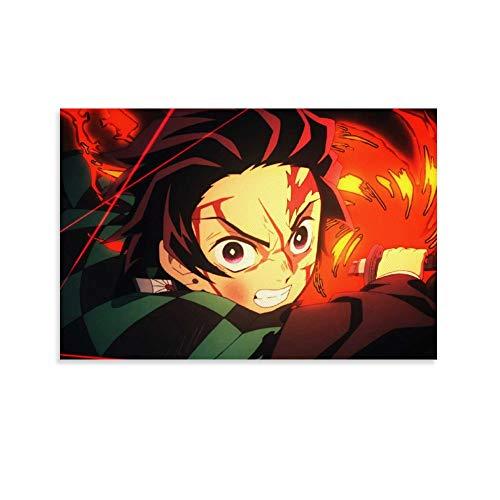 Pictures Arts Craft for Home Wall Decor Gift Anime Demon Slayer Temporada 2 Poster Decoración de pared 45 x 30 cm
