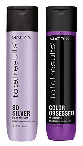 MATRIX - So Silver & Color Obsessed - Juego de champú y acondicionador, 300 ml