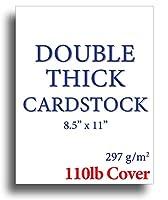 110ポンドカバー 超厚手 ダブル厚手カード用紙 明るいホワイト 8.5インチ×11インチ インクジェット/レーザープリンター用 200 Sheets ホワイト