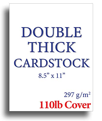 110lb Cover Ultra Heavyweight Thick Cardstock - Bright White - 8.5' x 11' - For Inkjet/Laser Printers (50 Sheets)