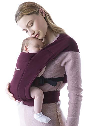 Ergobaby Embrace Mochila Portabebe Ergonomica Recién Nacidos, Extra Suave y Ultraligero (Burgundy)
