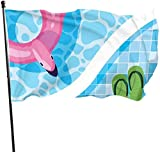 Viplili Flagge/Fahne, Swimming Pool Fly Breeze 3x5 Ft. Polyester, Fade-Resistant and Durable Decorative Banner with Head and Brass Grommets for Easy Removal