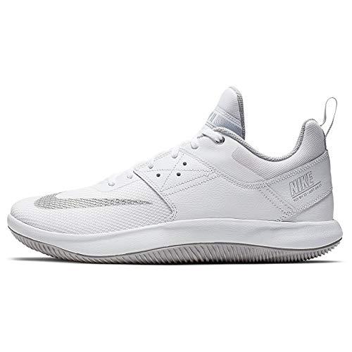 Nike Men's Fly by Low II Basketball Shoe (8.5 M US, White/Metallic Silver/Wolf Grey)