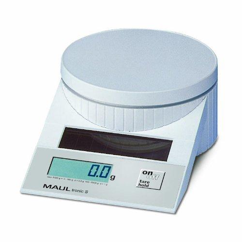 MAULtronic 1515002 - Báscula solar para correo (hasta 5 kg), color blanco