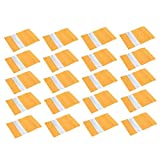 Toasses 20pcs Kraft Papel Stand Bag Snack Snack Candy Selling Packing Bag con la Cremallera de la Ventana