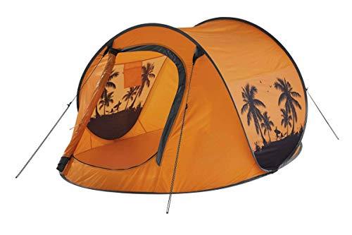 Crivit Wurfzelt, Auspacken und werfen - Zelt springt von alleine auf Orange