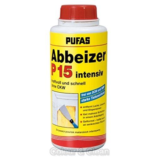 Pufas Abbeizer P15 intensiv 750 ml Kraft-Abbeizmittel für Lacke Lasuren Farben