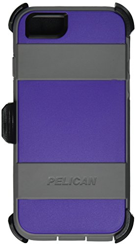 Pelican Voyager Rugged Case with Kickstand Holster for iPhone 6/6s - Retail Packaging - Purple