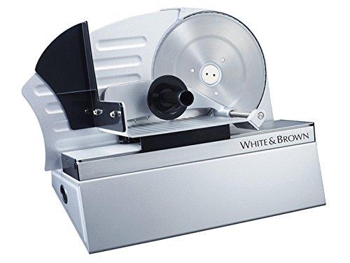 White and Brown TR 2221 Trancheuse Acier Inoxydable/Plastique Inox 53 x 37 x 29 cm