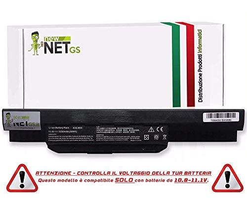 Batterie für A32K53| A43EI241SV | a42K53-10.8/11.1V 5200mAh kompatibel mit PC/ASUS X44LY/, X53, X53B, X53BR, X53BY, X53E, X53S, X53SD, X53SJ, X53SK, X53SV, X53T, X53TA X53TK X53U, X53Z, X84S