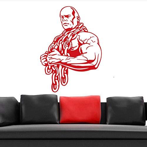 Wandaufkleber Auto Gym Aufkleber Ironmen Fitness Eisenkette Hantel Aufkleber Bodybuilding Poster Wandtattoos Dekor Gym Aufkleber 58X80Cm