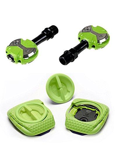 Speed Play Zero CR–Mo Juego de Pedales Incluye Ballena Kable Cleats 61240Pedales, Verde, Uni