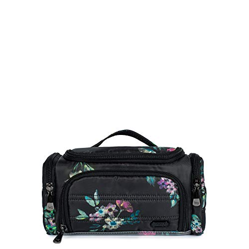 Lug Women's Trolley Mini Cosmetic Case, Bouquet Black