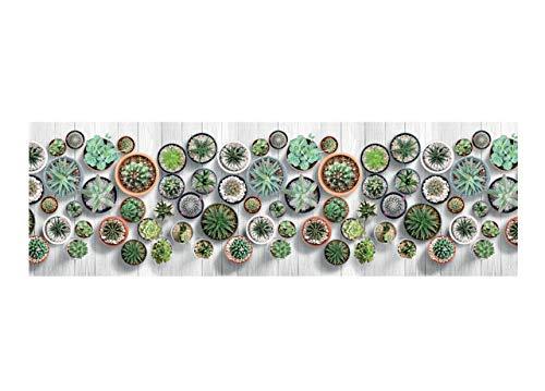 BIANCHERIAWEB Tappeto con Stampa Digitale Antiscivolo Linea Emozioni D. Cactus By Suardi 58x140 Cactus