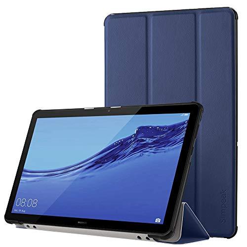 Simpeak Hülle Kompatibel für Huawei Mediapad T5 10.1 Zoll, Ultra Dünn mit Standfunktion Kompatibel mit Mediapad T5 10.1 Schutzhülle Hülle - Blau