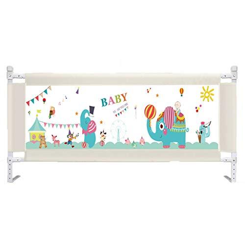 Huoo Portable Bébé Barrière de Lit Safety 1st Enfants Bébé avec Boutons Barrière de Sécurité Chambre À Coucher Maison (Size : 200cm)