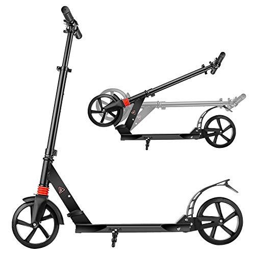 YUEBO Patinete Plegable de 2 Ruedas City Scooter para Niños y Adultos con Manillar Altura Ajustable