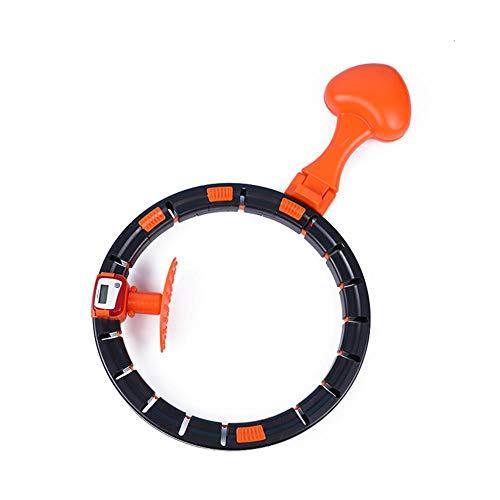Anillo de fitness inteligente / hula hoop, anillo de fitness inteligente para cintura y abdomen, equipo de fitness con anillo giratorio automático desmontable, entrenamiento en el hogar, pérdida de pe