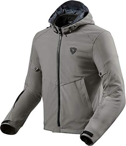 Revit Burn 2 - Chaqueta textil para moto, gris oscuro, M